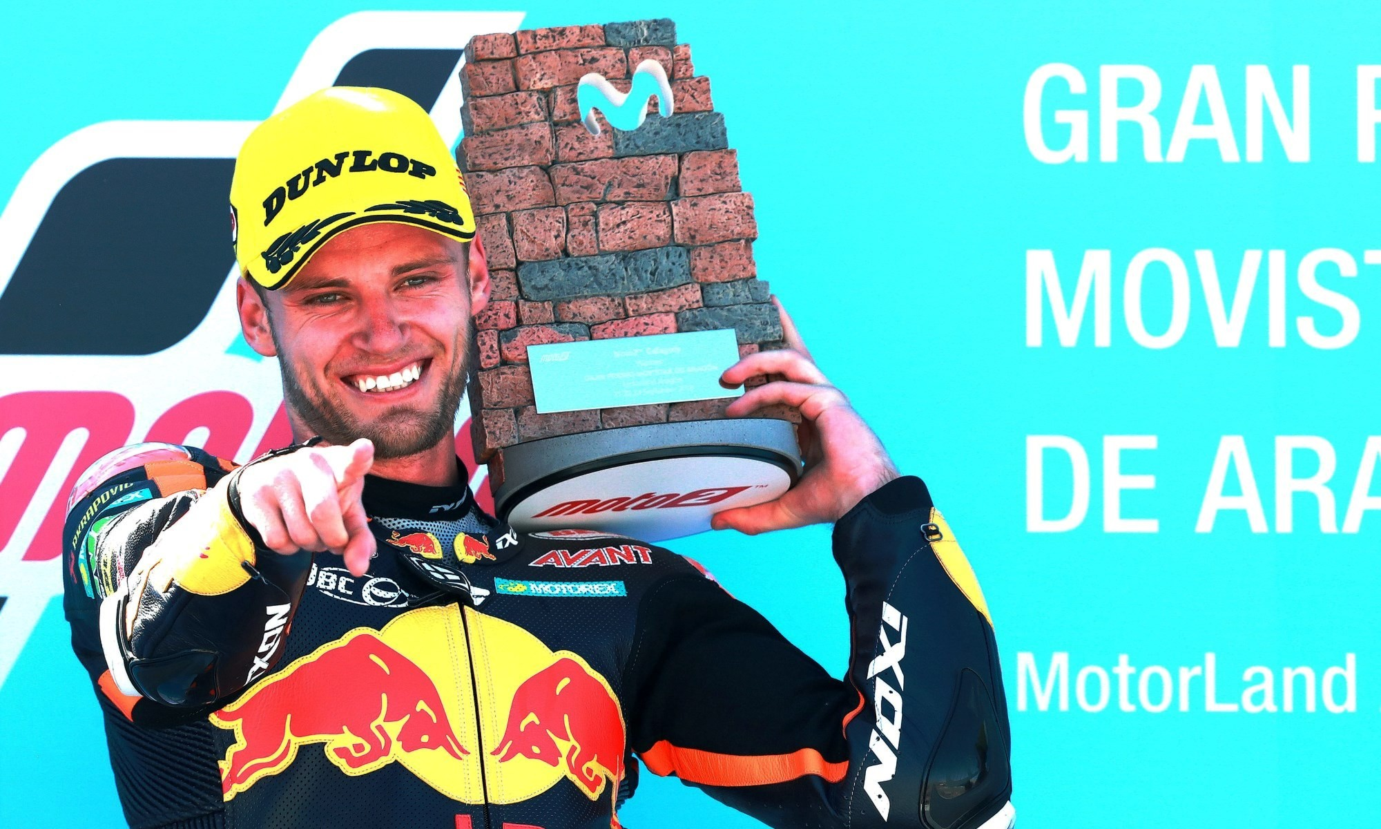 Brad Binder won in Moto2