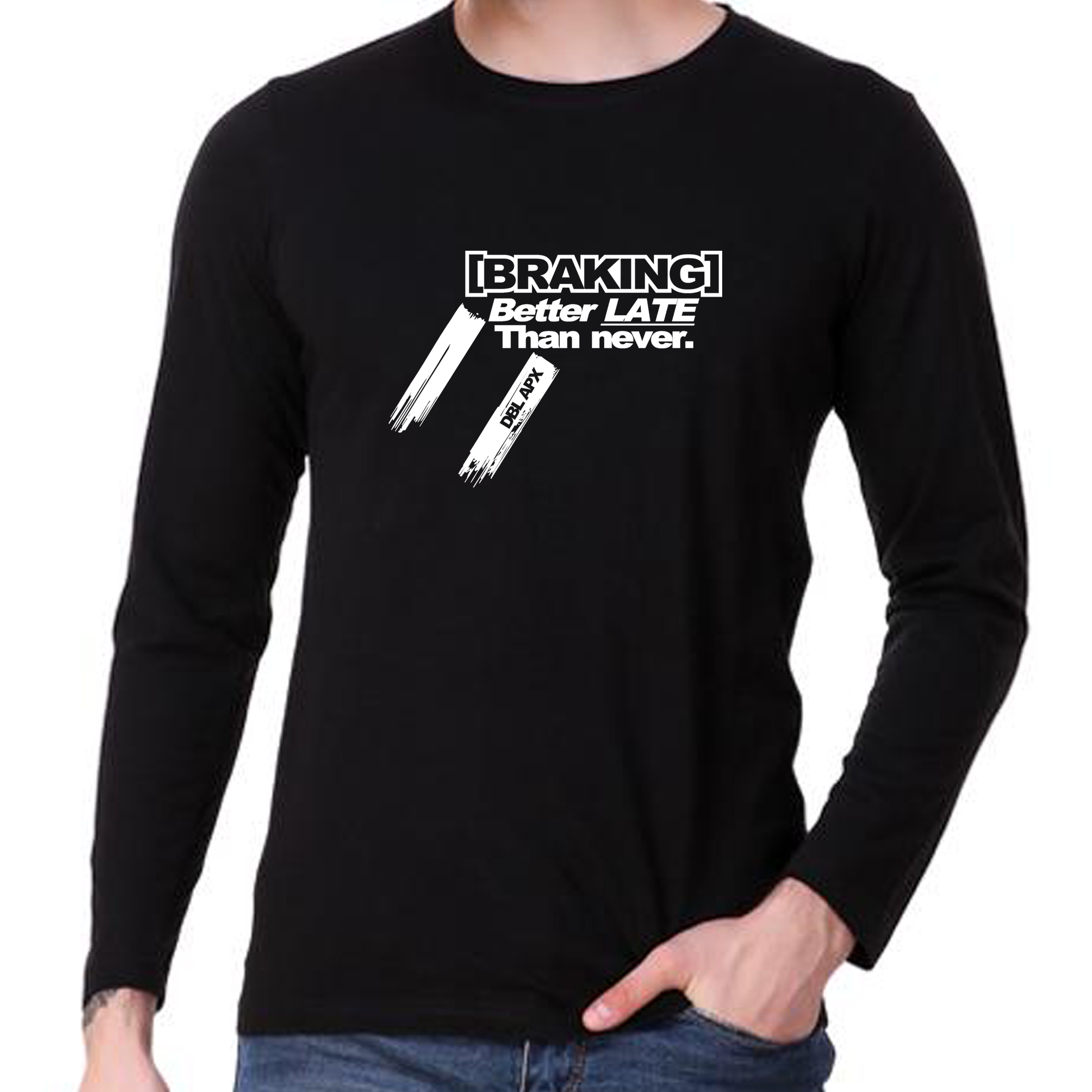 Double Apex Braking Late long sleeve car T-shirt