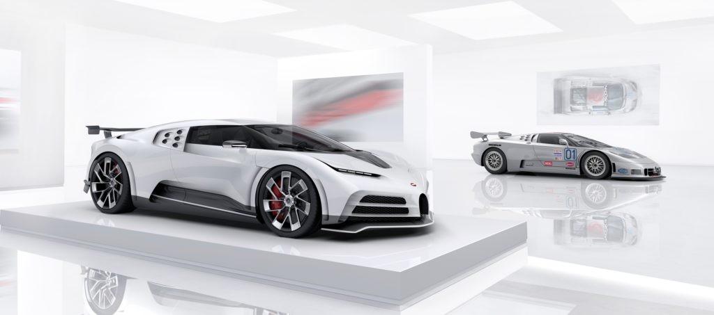 Bugatti Centodieci and EB110