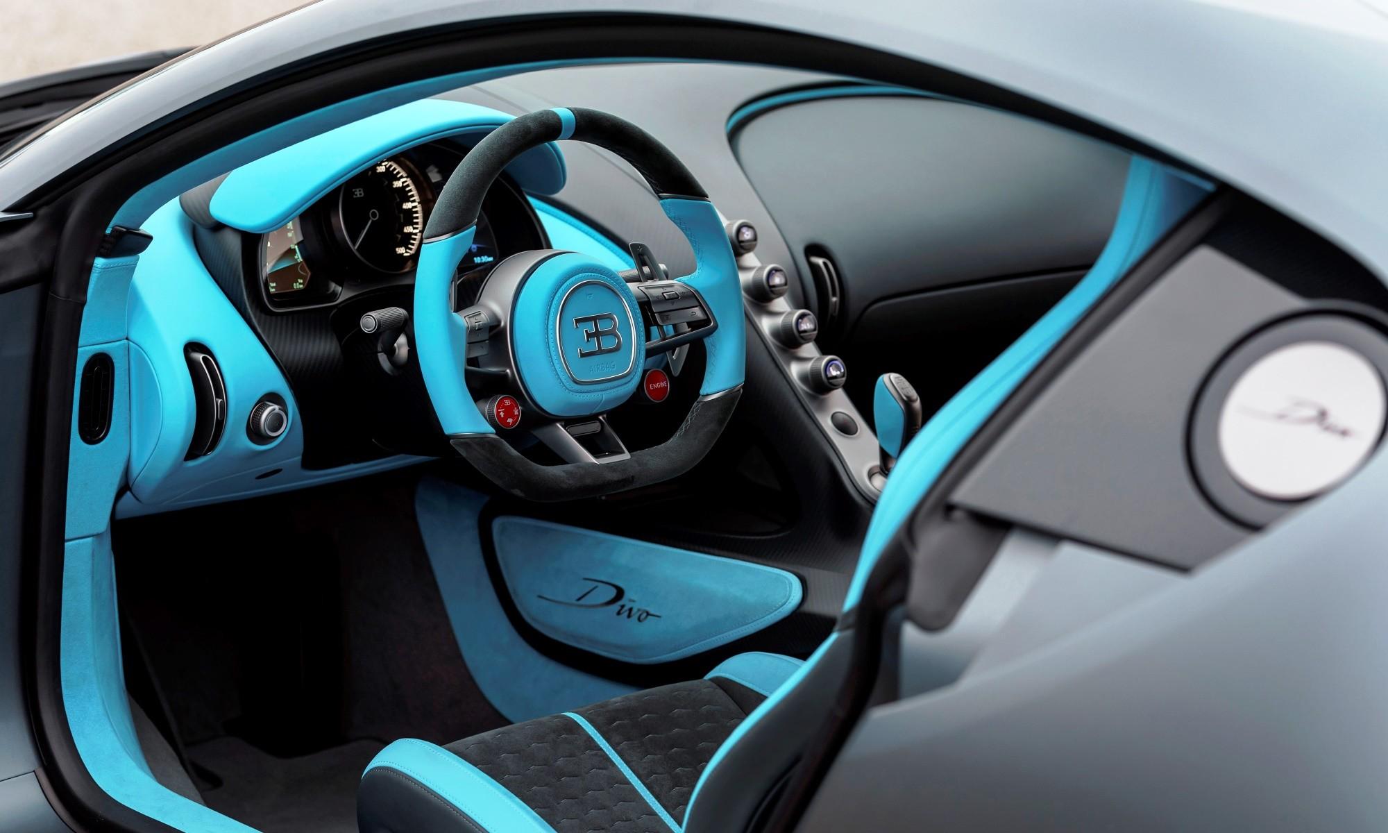 Bugatti Divo hypercar interior