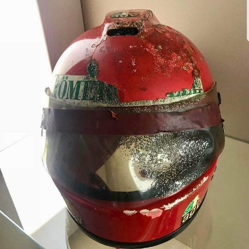 Burnt helmet
