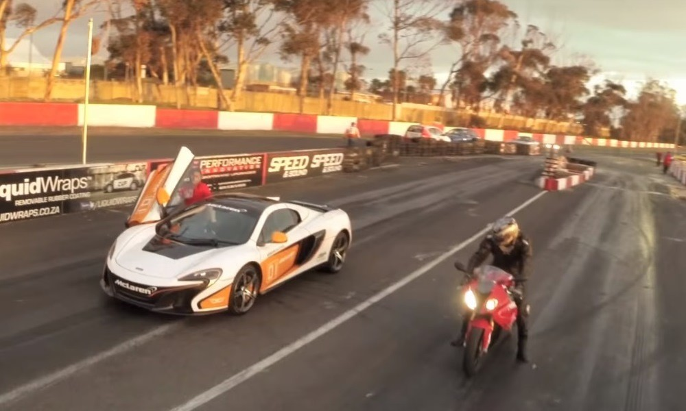Mclaren 650s Vs Bmw S 1000 Rr Video Double Apex