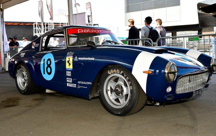 Classic racecars static display