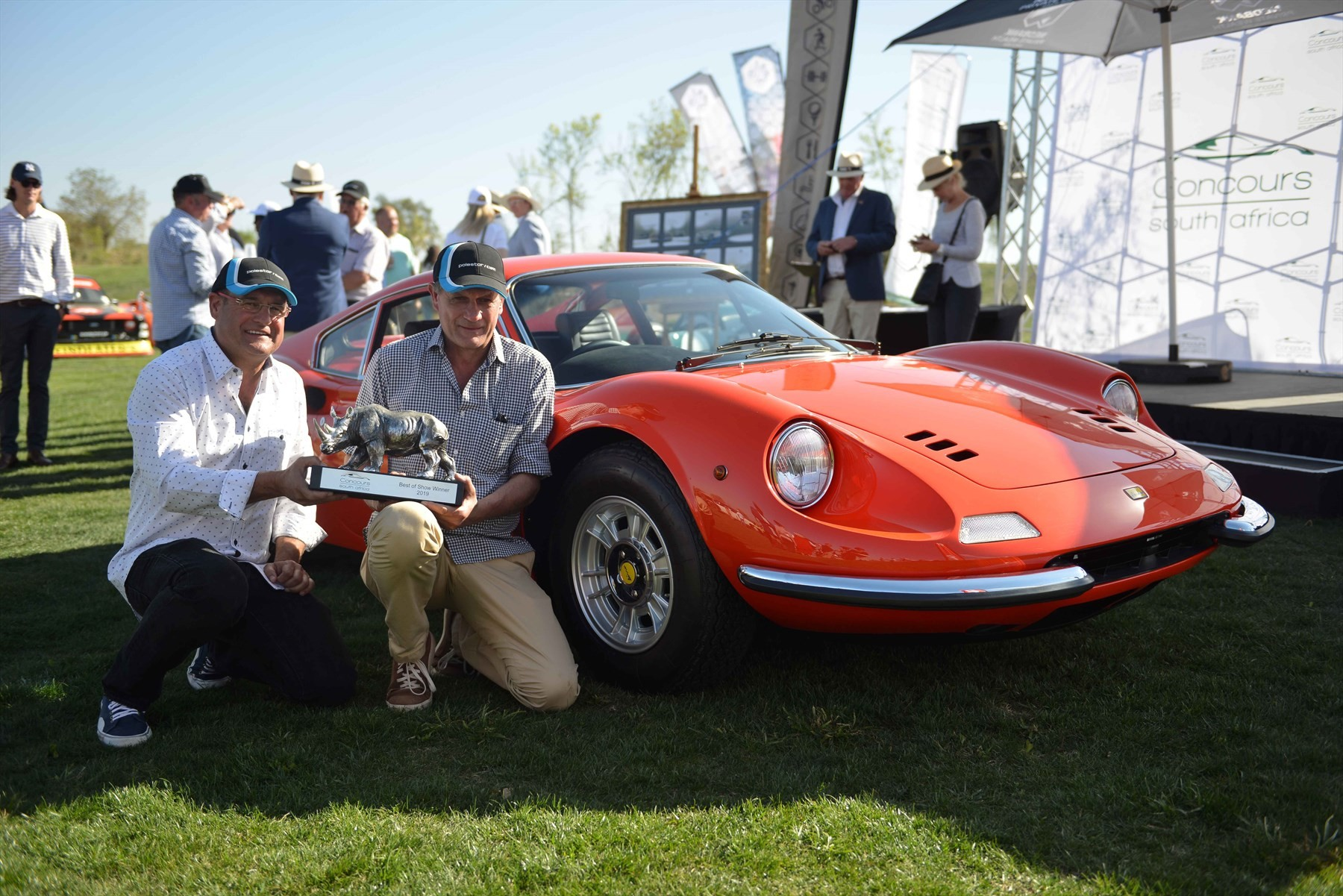 The Ferrari Dino that took top honours at Concours SA 2019.