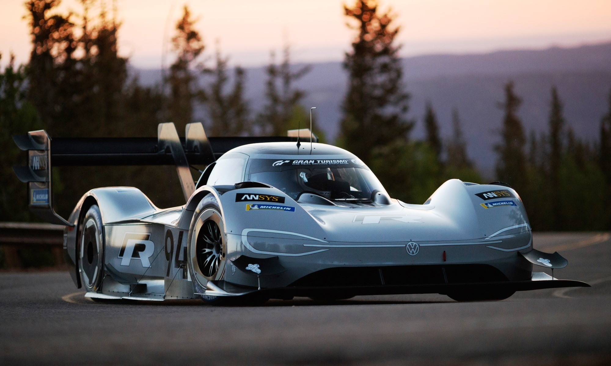 VW I.D. R Pikes Peak in race livery
