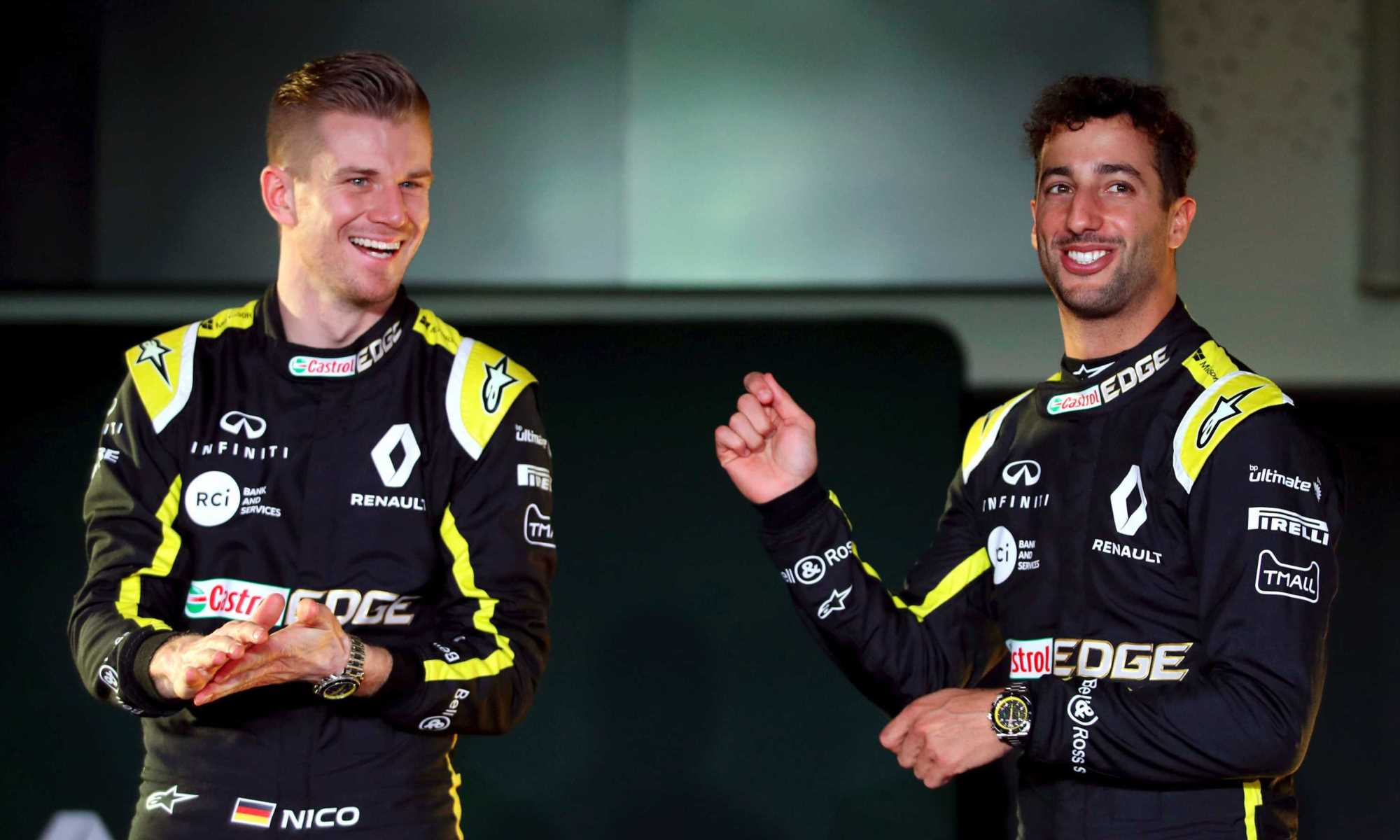 Daniel Ricciardo and Nico Hulkenberg