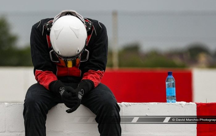 Head down after a hard day racing