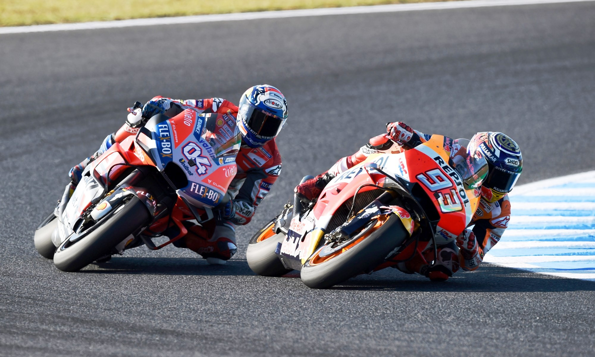 Dovi and Marquez battled hard as usual