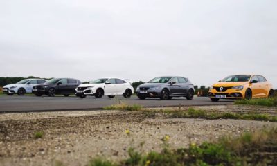 Five-way hot-hatch drag race