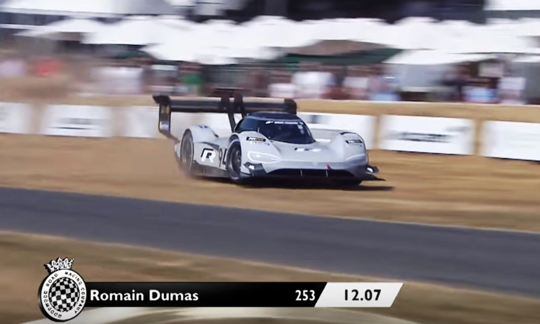 Romain Dumas goes farming the VW ID R Pikes Peak racer