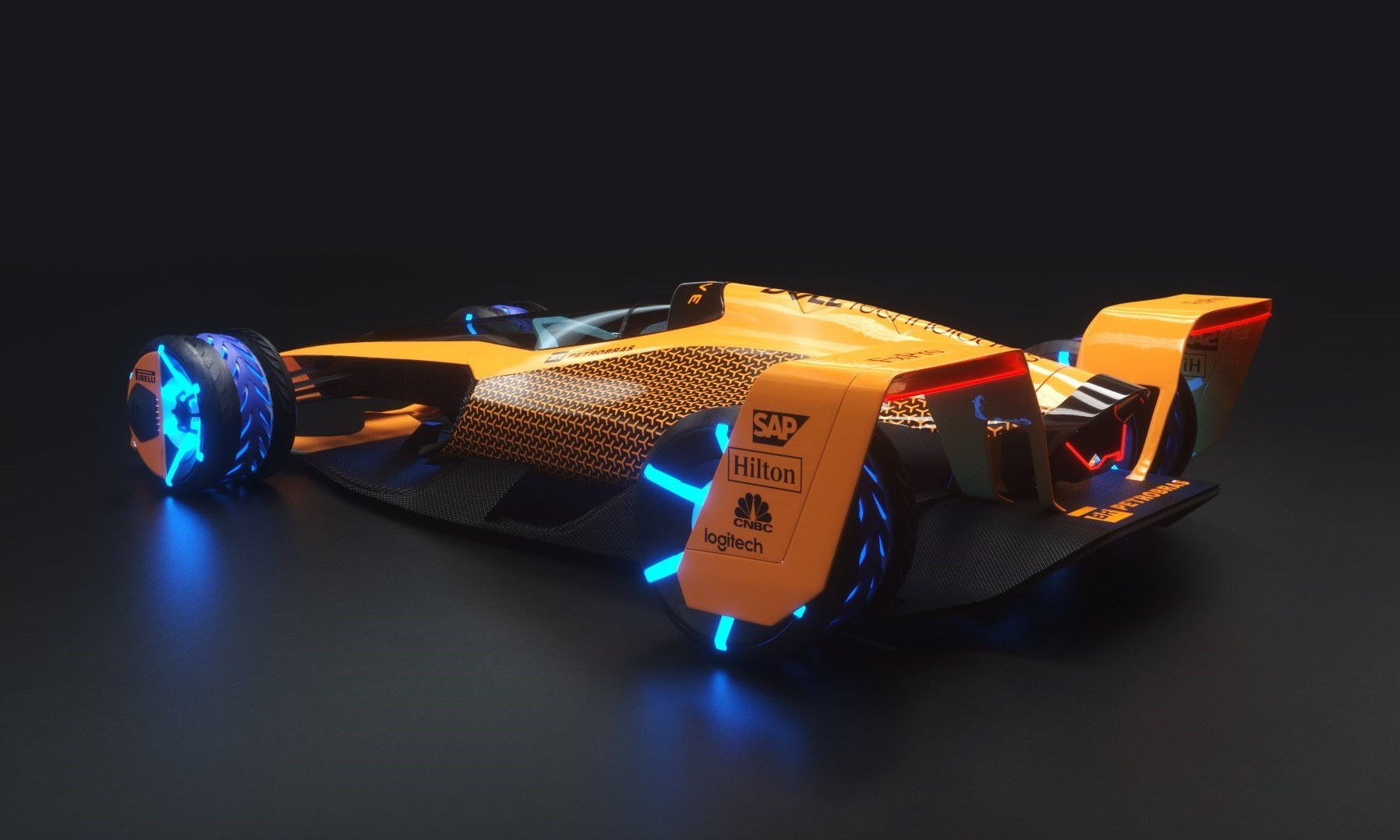 McLaren Future Grand Prix racecar rear