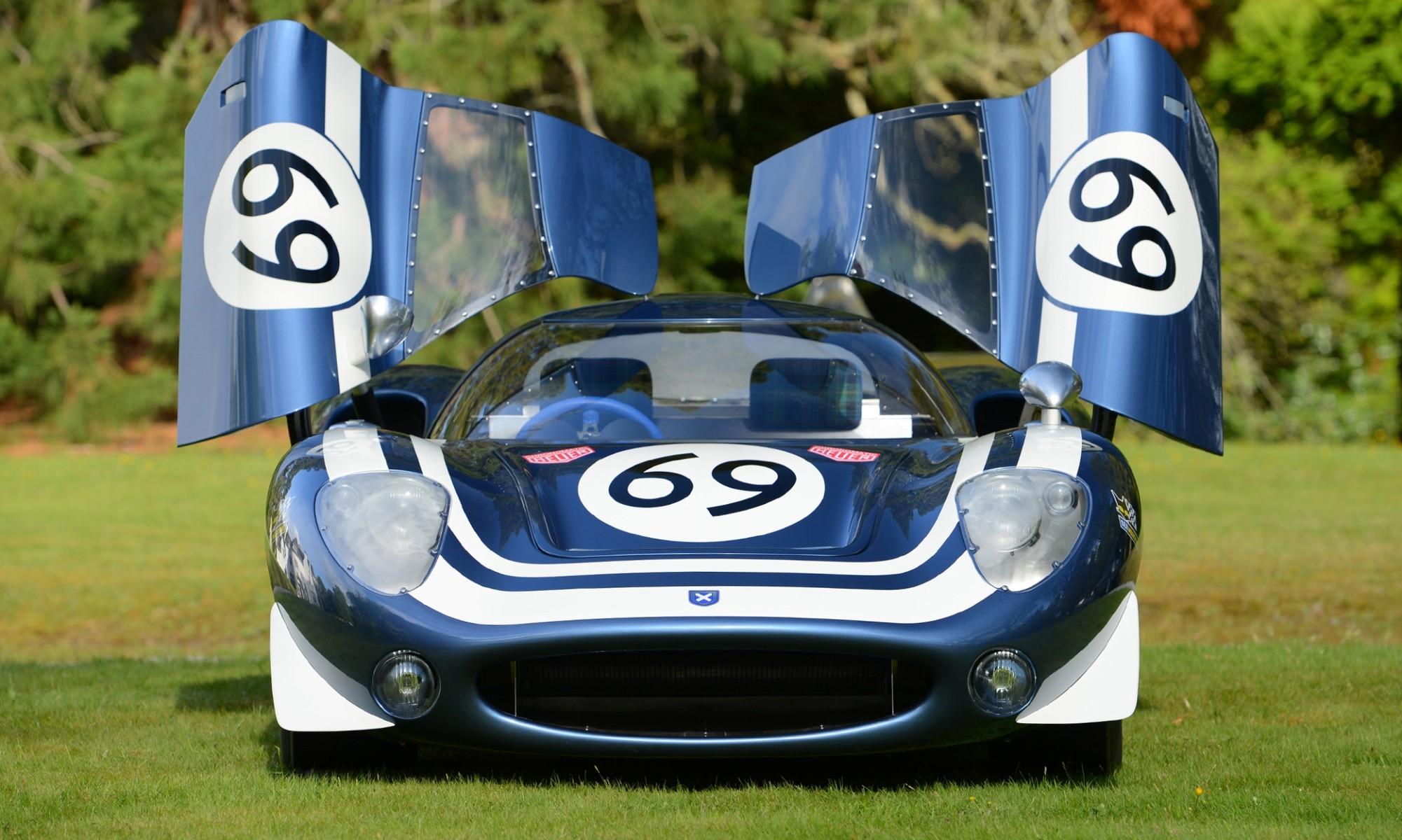 Ecurie Ecosse LM69 front doors open