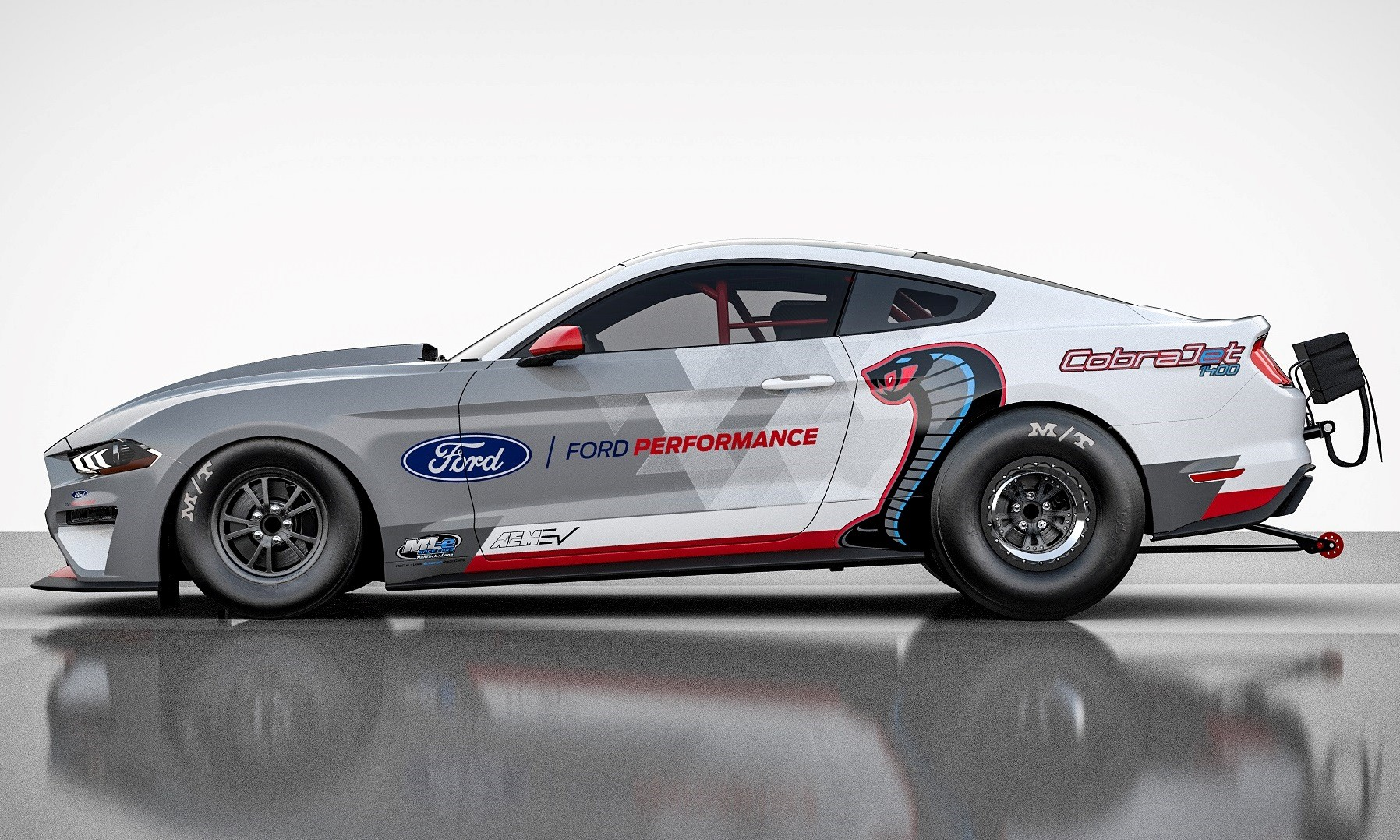Electric Mustang Cobra Jet Dragster profile