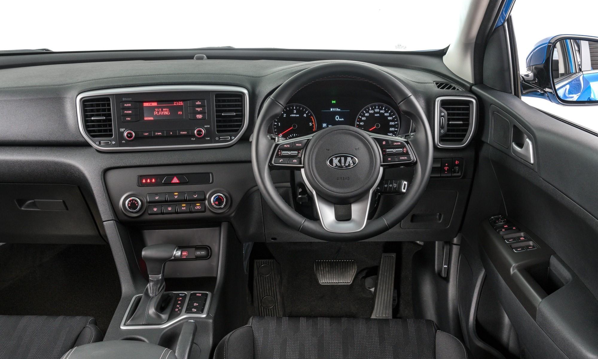 Enhanced Kia Sportage interior