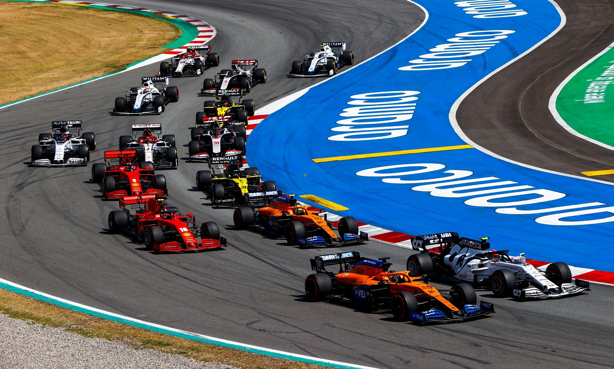 F1 Review Spain 2020 opening lap