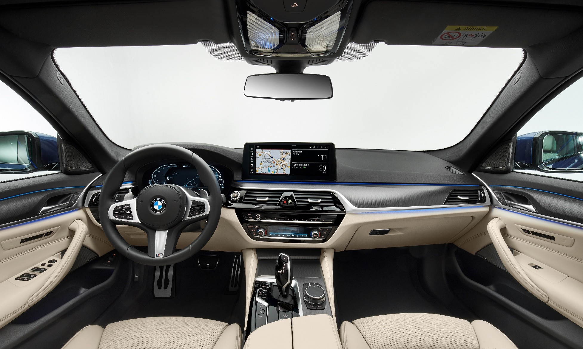 Facelifted BMW 5 Series interior