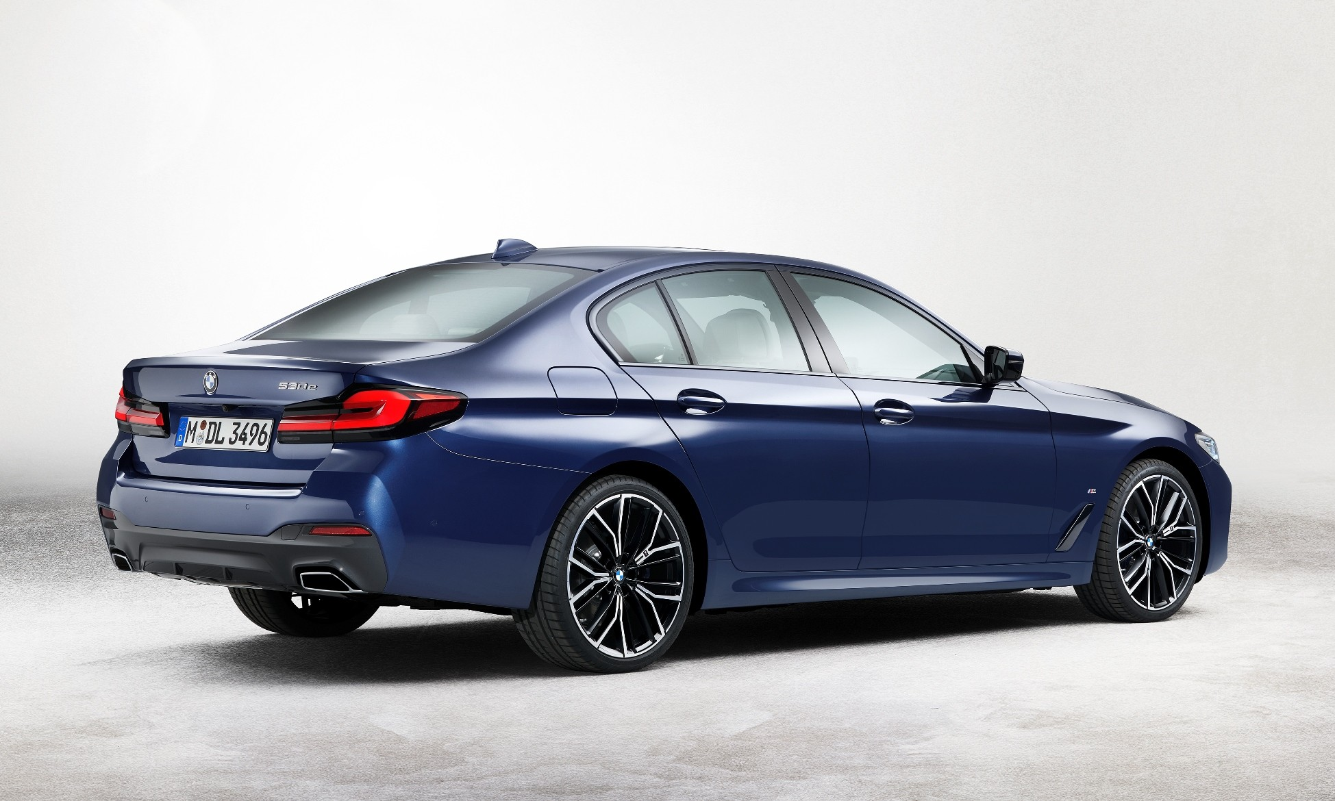 Facelifted BMW 5 Series rear