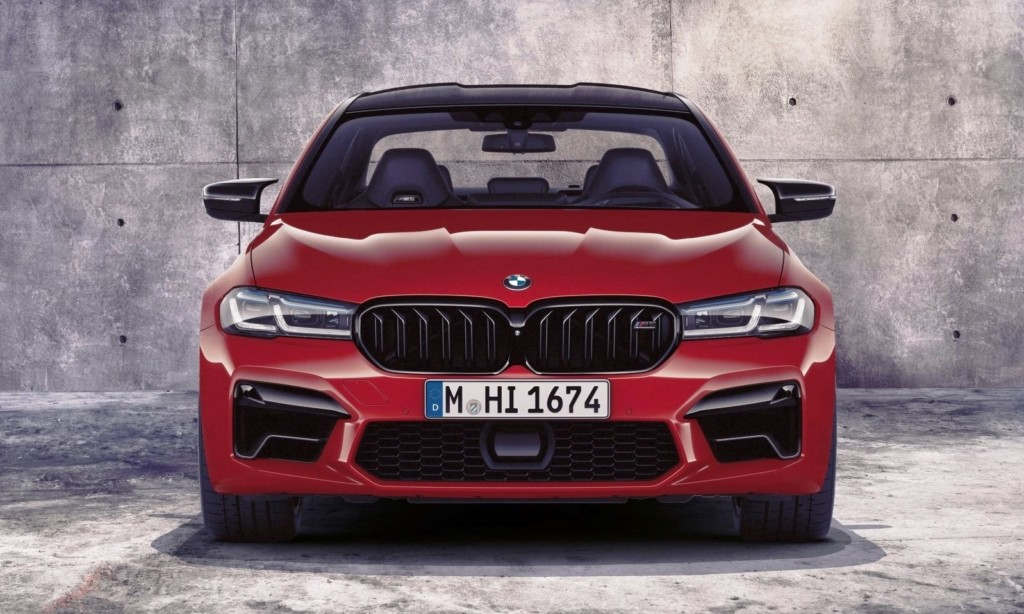 Facelifted BMW M5 front