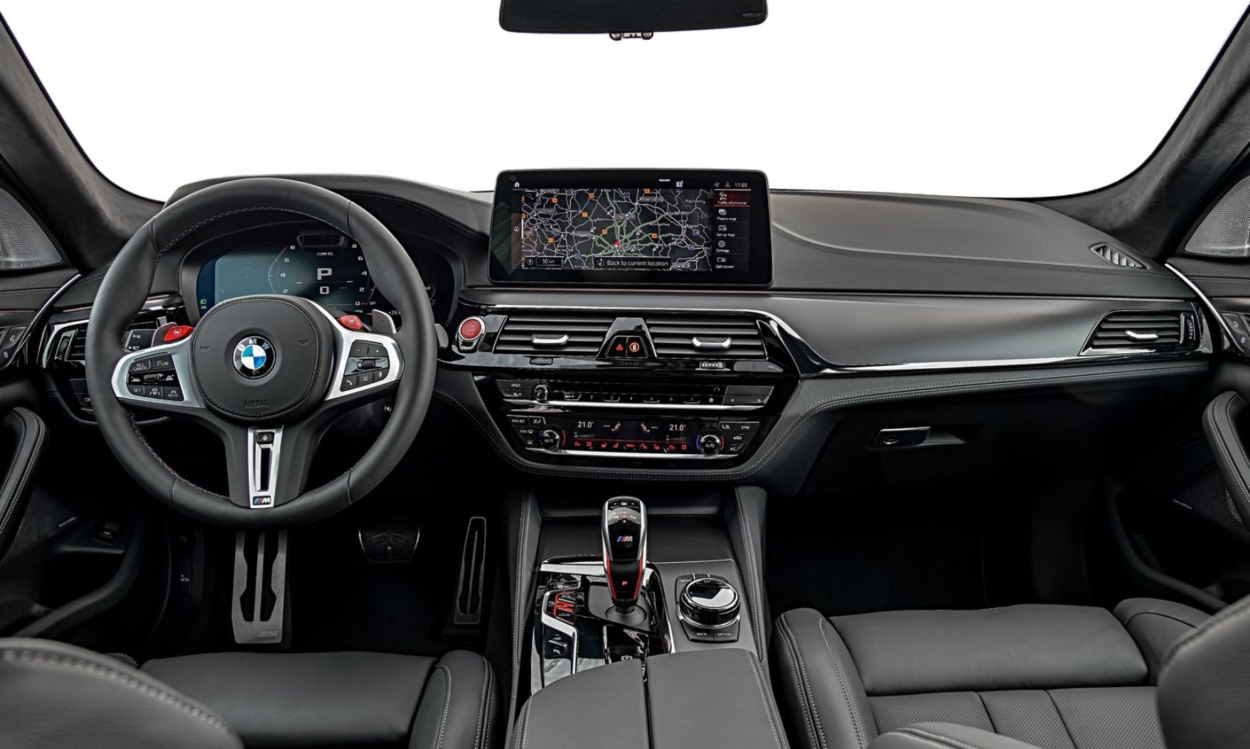 Facelifted BMW M5 interior