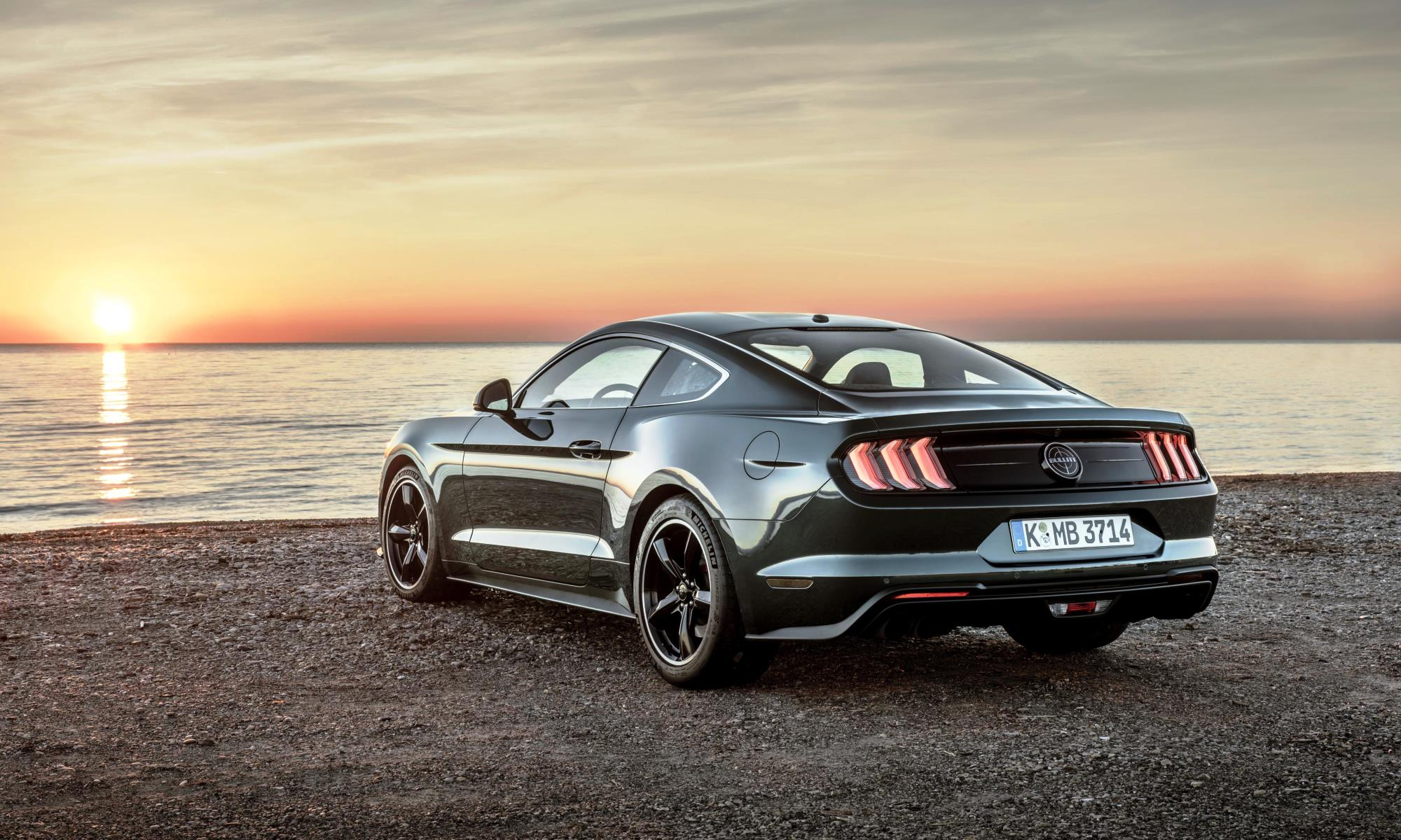 Facelifted Ford Mustang Bullitt rear