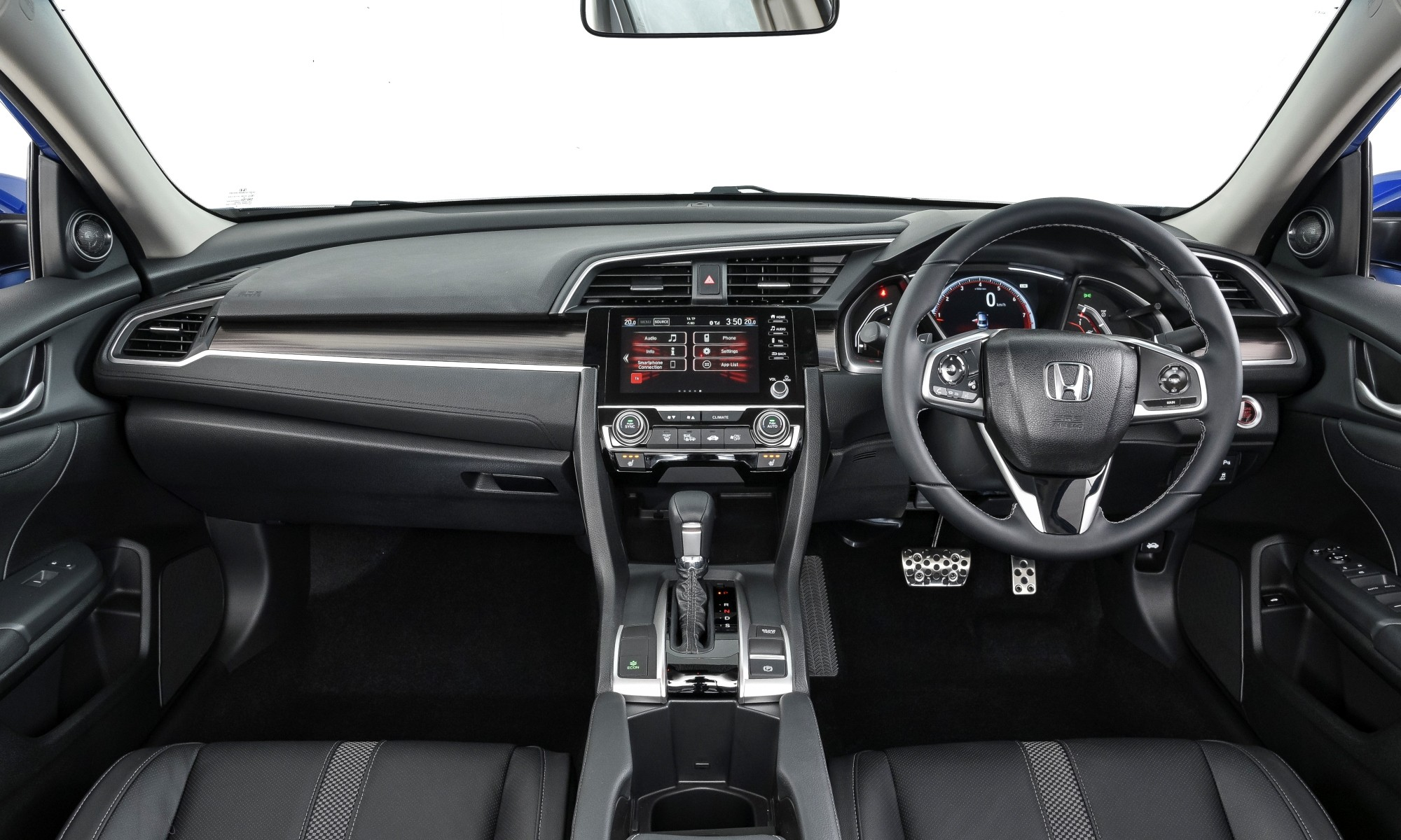 Facelifted Honda Civic interior