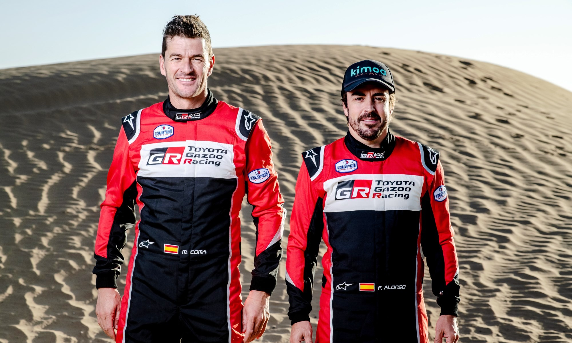 Fernando Alonso and navigator Marc Coma