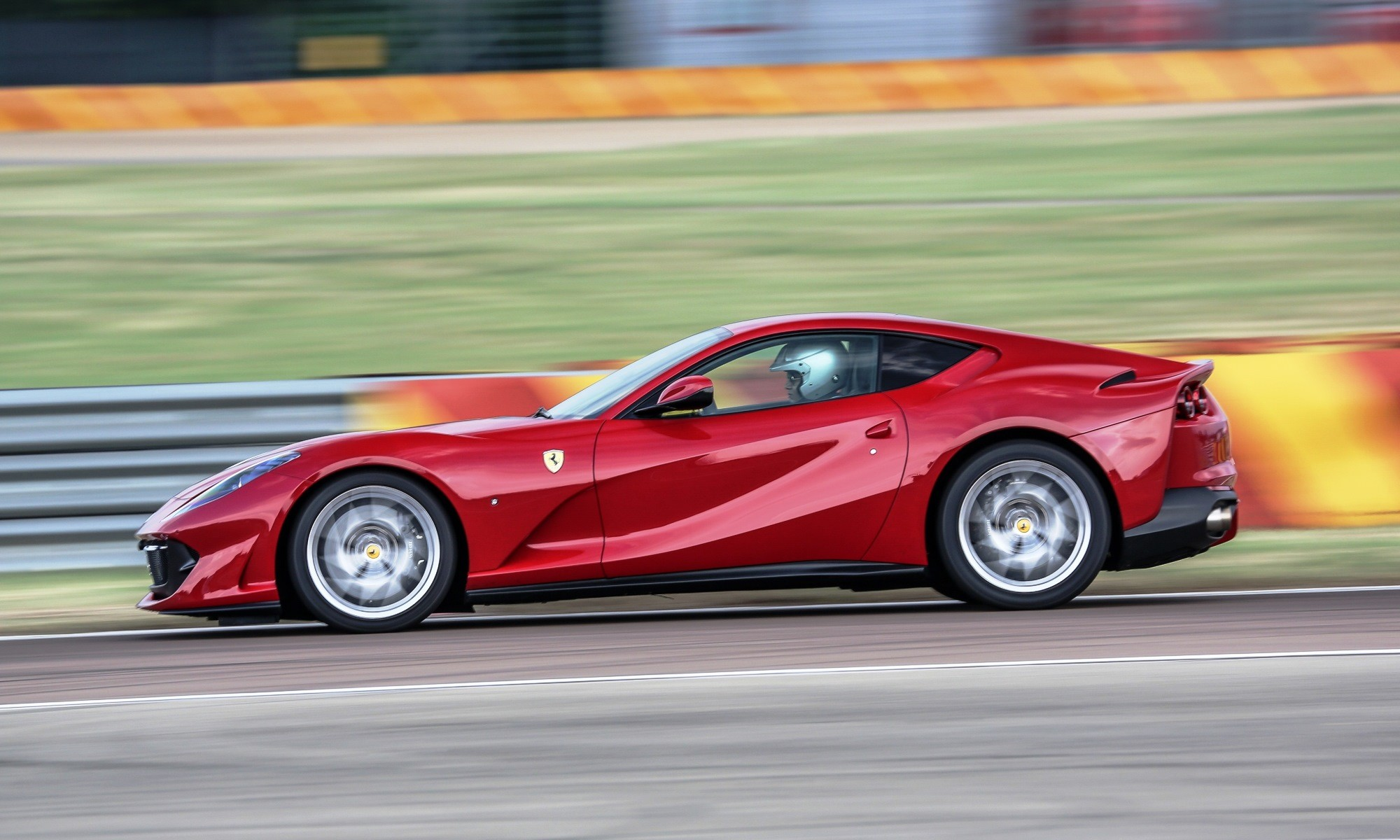 Ferrari 812 SuperFast in action at Fiorano