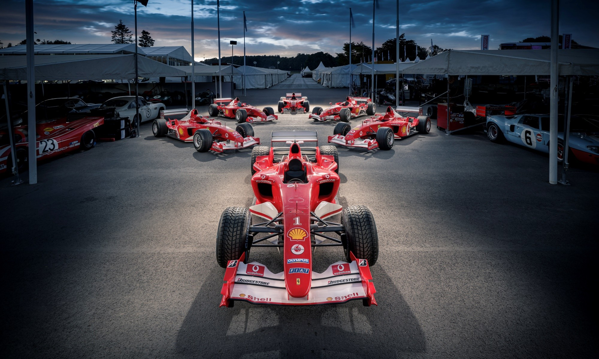 Michael Schumacher F1 Ferraris on show at 2019 Goodwood Festival of Speed
