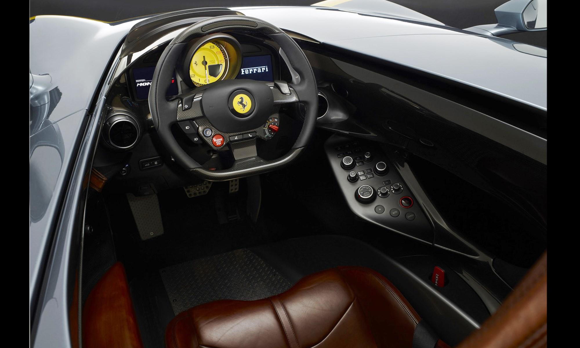 Ferrari Monza SP1 interior