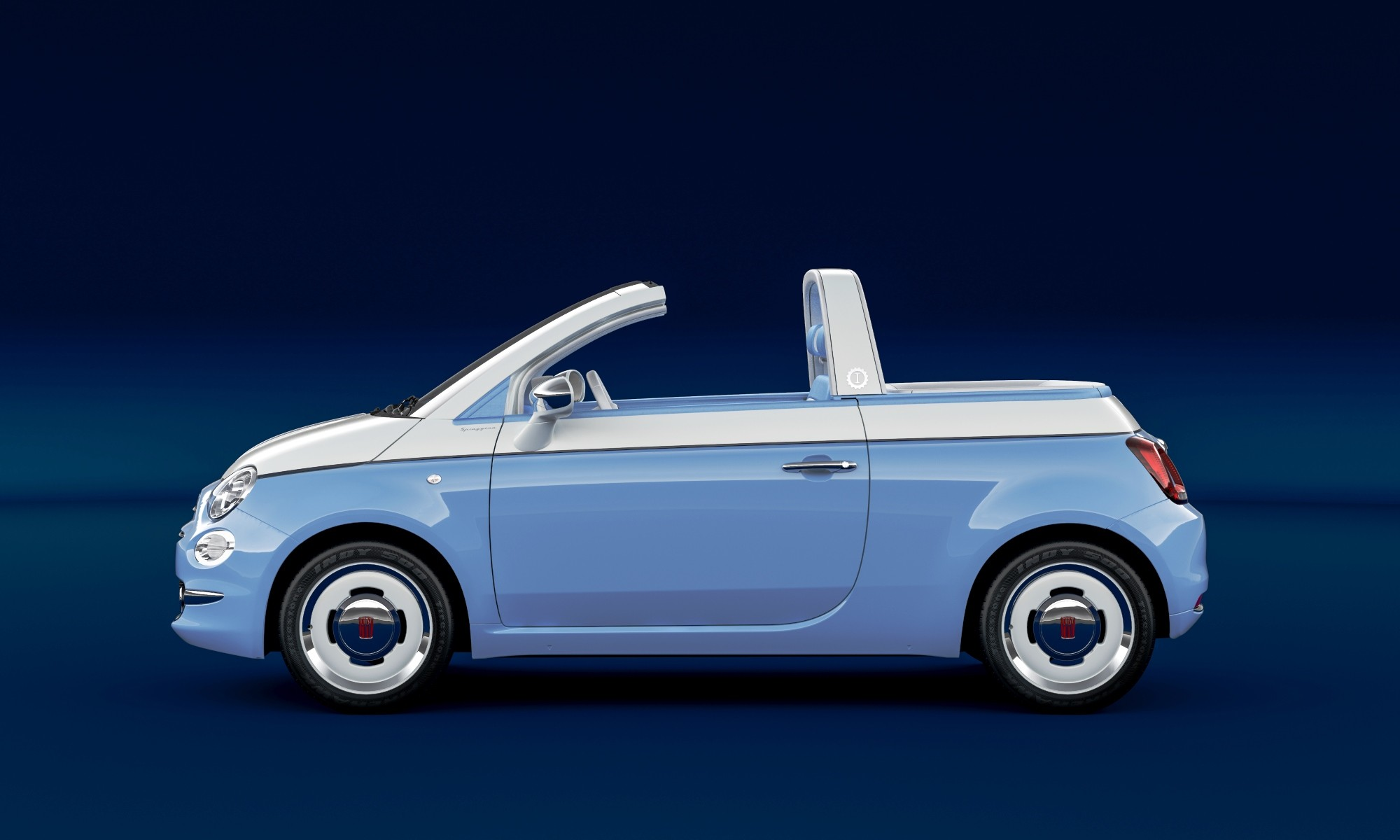 Fiat 500 Spiaggina with regular windscreen