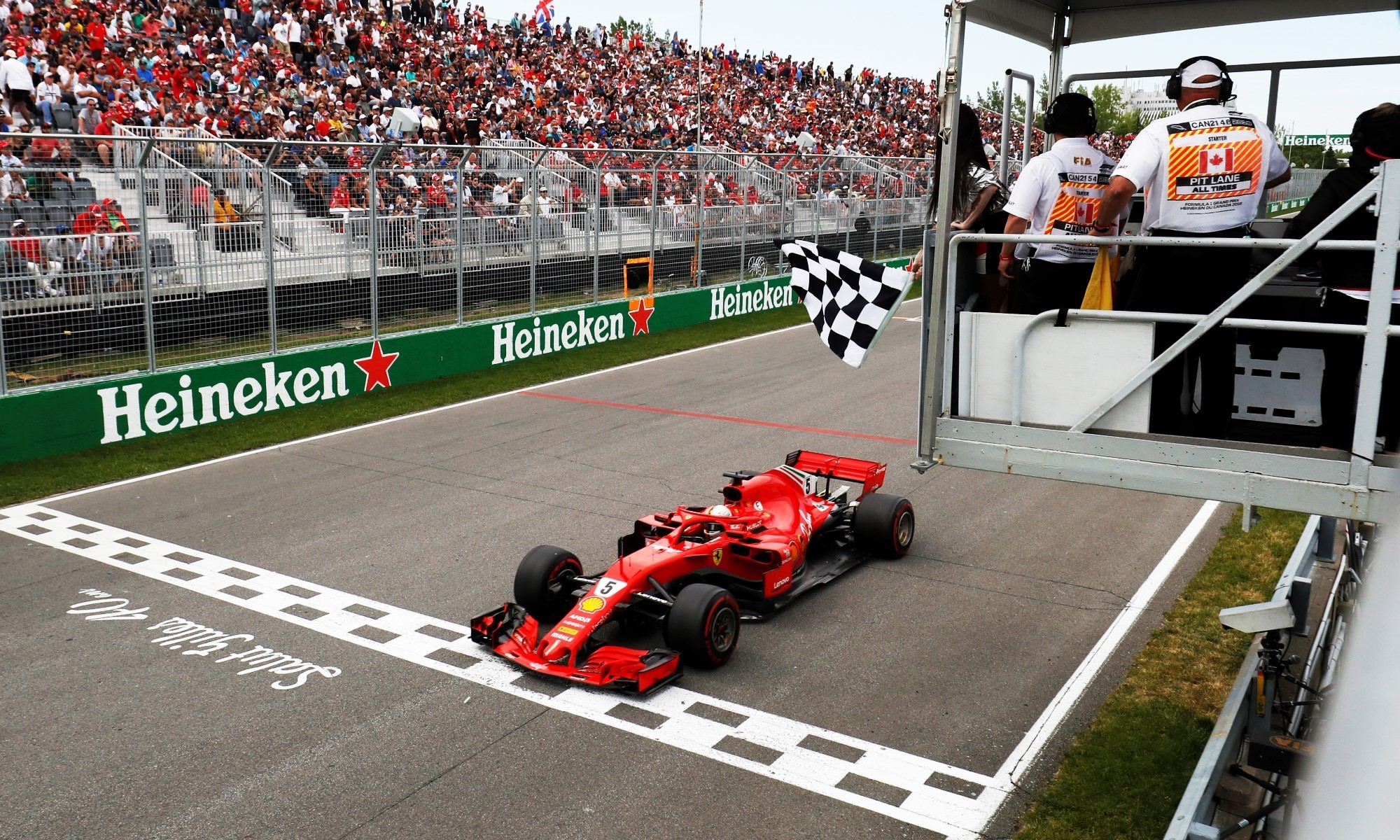 Seb Vettel took the win in Canadia