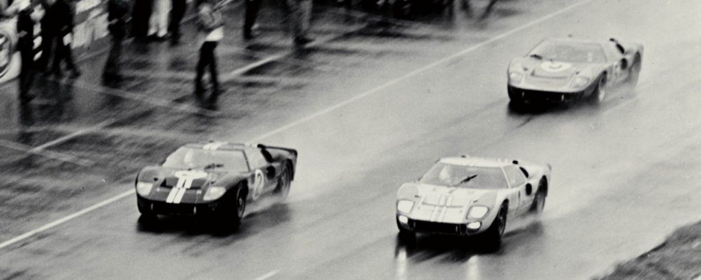 Ford GT40s finish 1-2-3 at the 1966 race