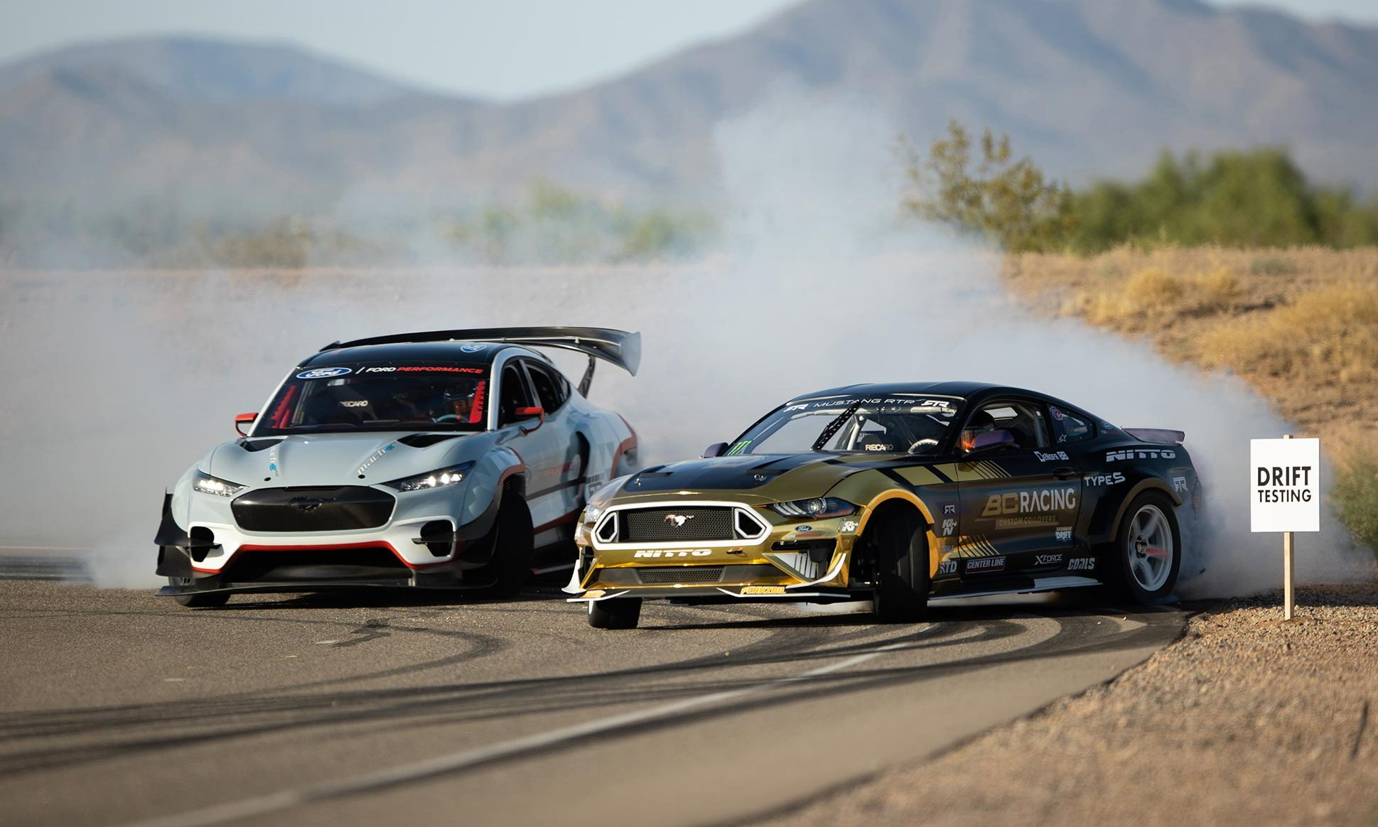 Ford Mustang Mach-E 1400 Prototype drifting
