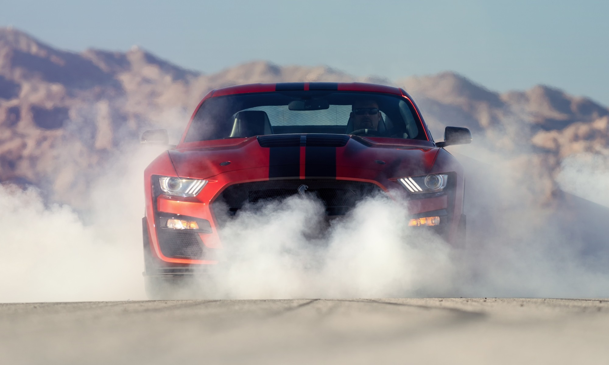 Mustang Shelby GT500 burnout
