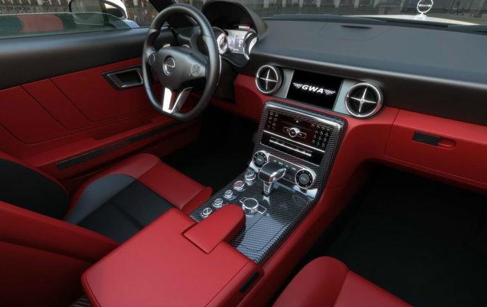 GWA Mercedes-Benz 300SLC interior