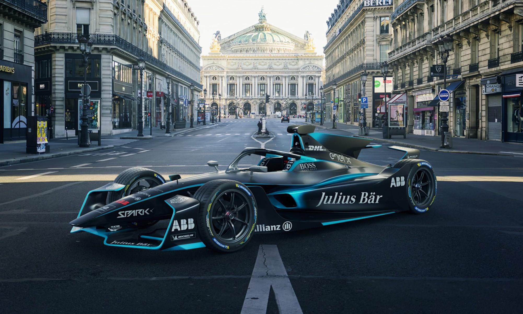 Gen2 Evo Formula E Car in city