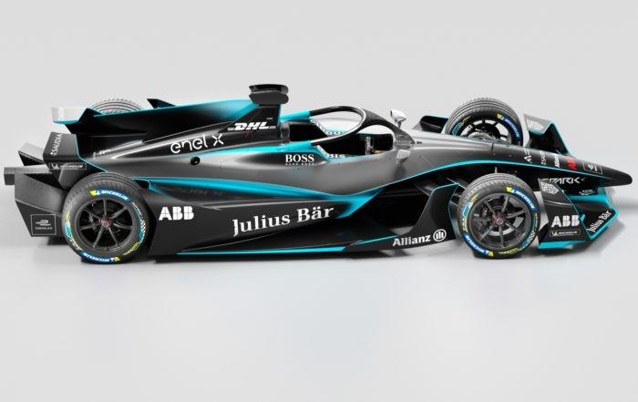 Gen2 Evo Formula E Car side