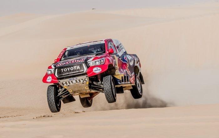 Giniel de Villiers was third on 2020 Dakar Stage 10