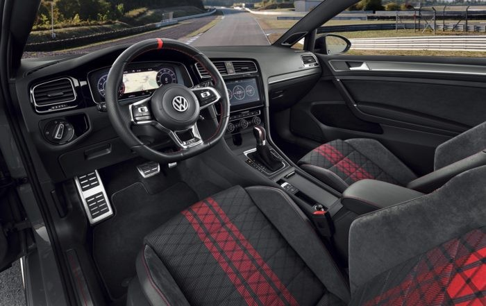 The new Volkswagen Golf GTI TCR interior