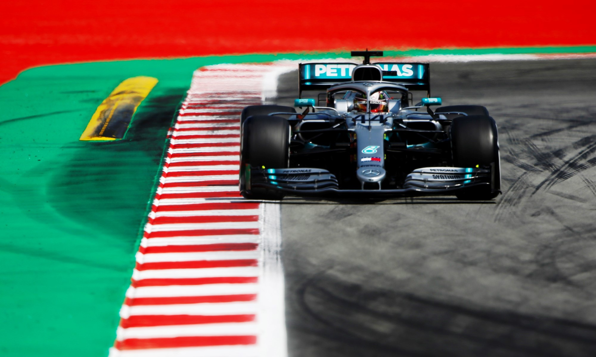 Lewis Hamilton was unchallenged throughout the race