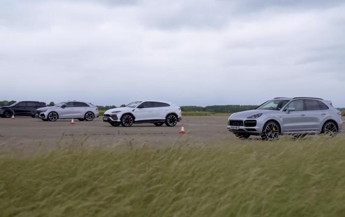 High-Performance SUV Drag Race