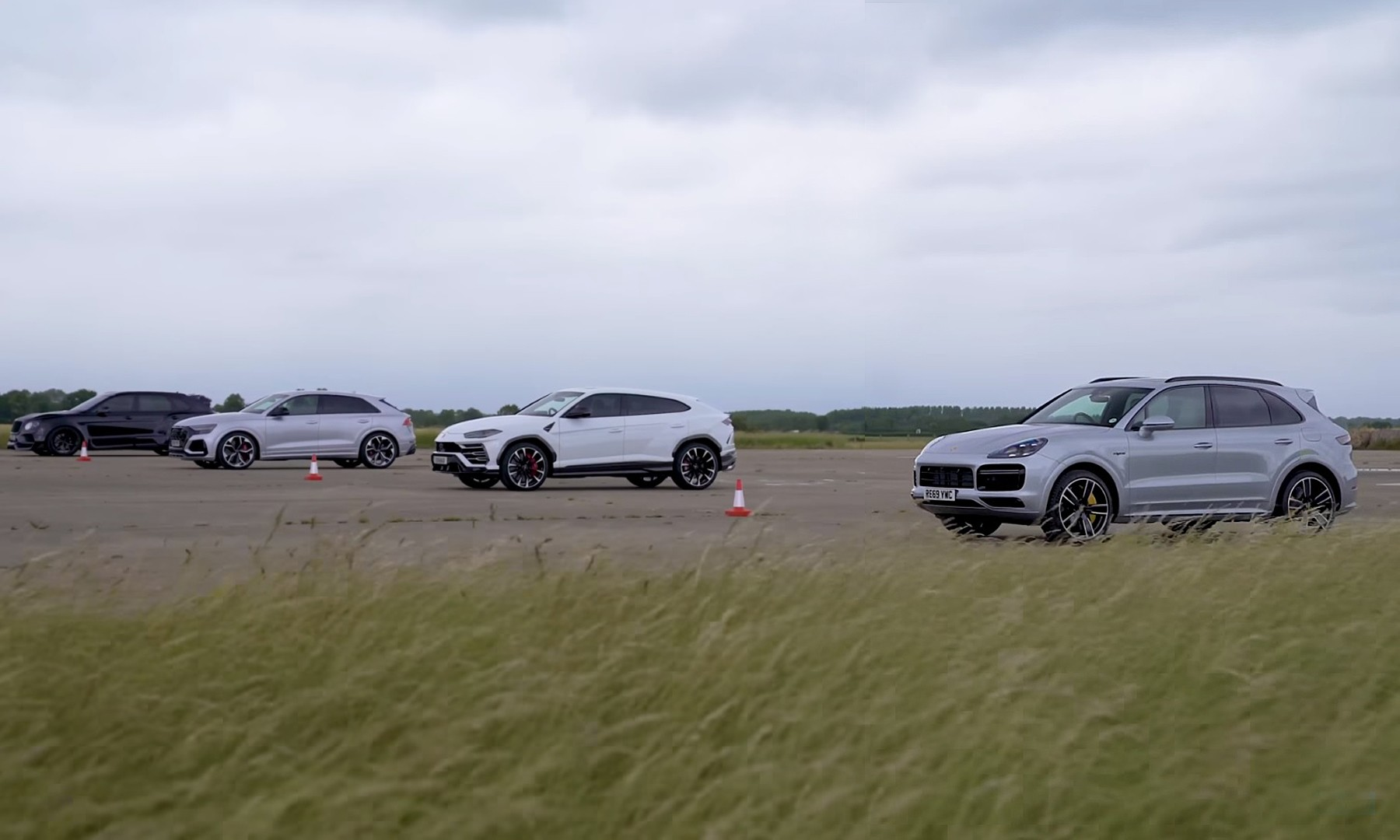 High-Performance SUV Drag Race