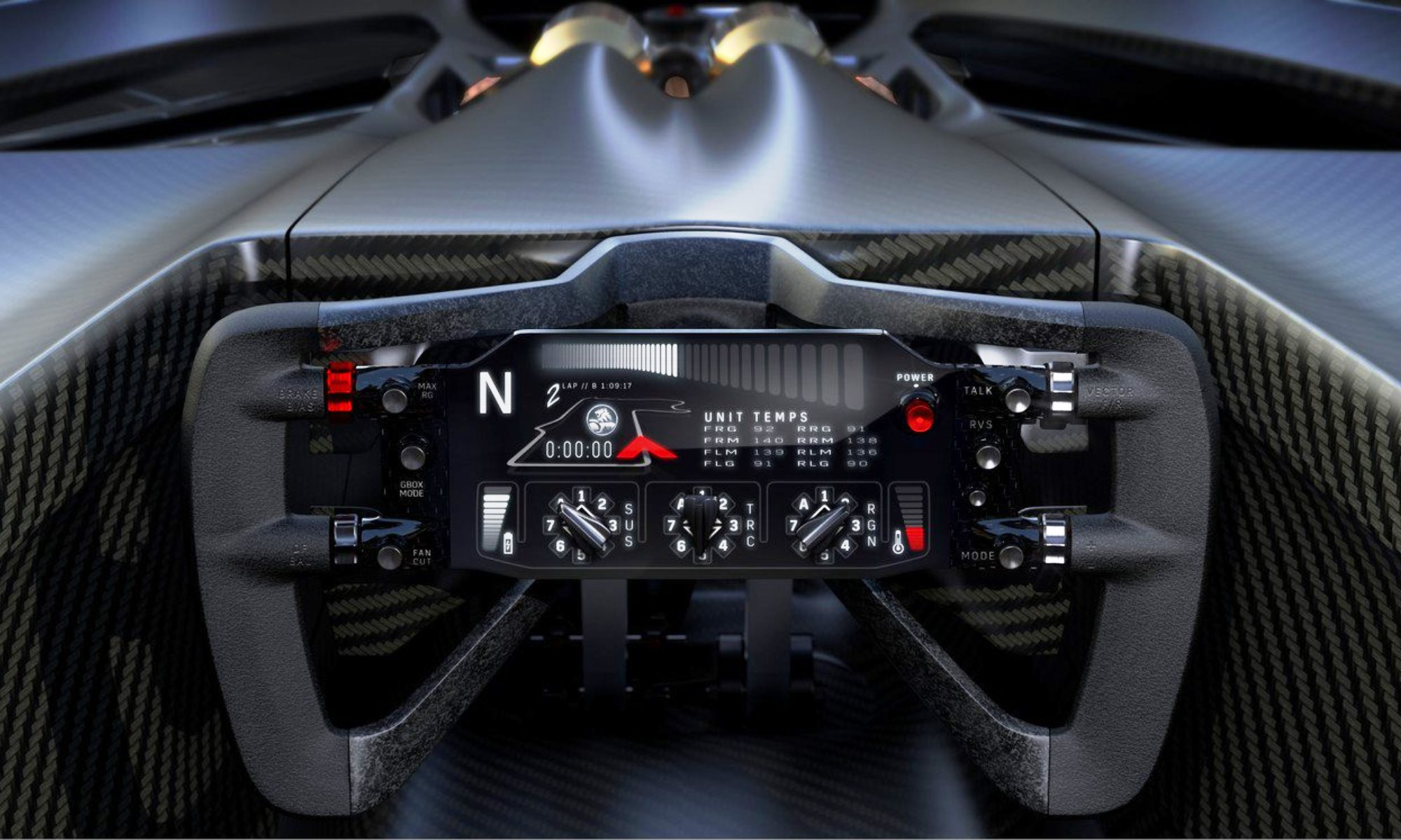 Holden Time Attack Concept cockpit