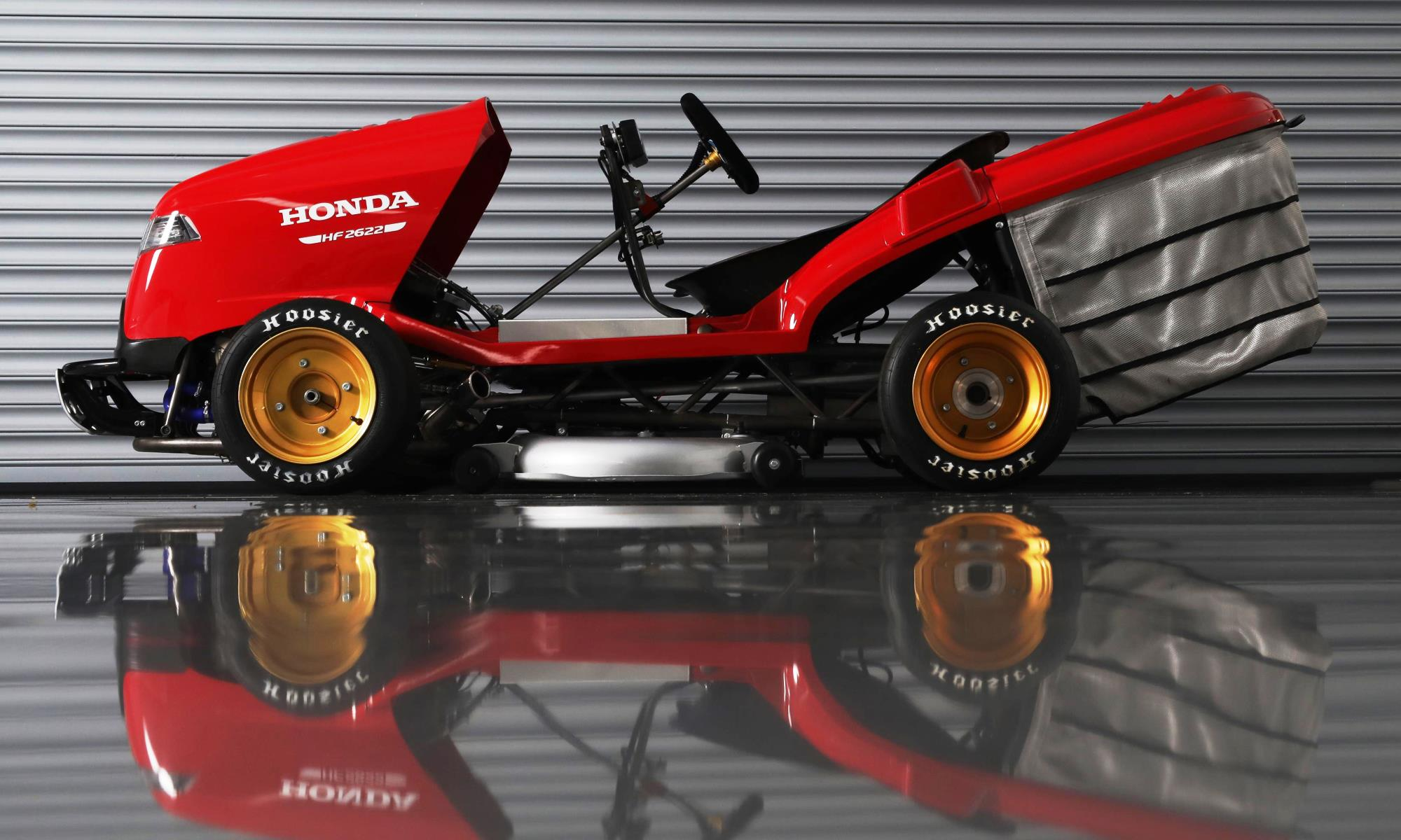 Honda Mean Mower V2 with grass box in place