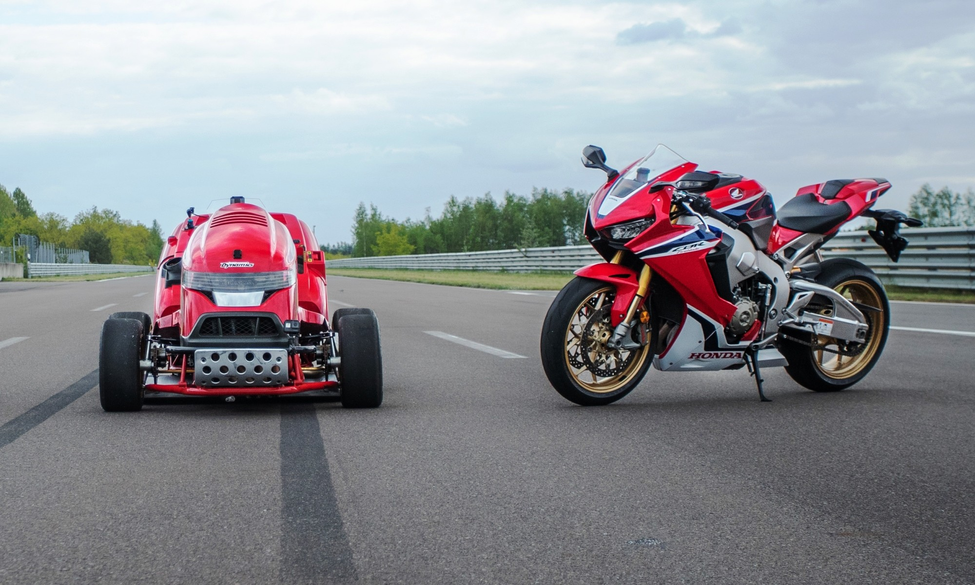 Honda Mean Mower and Fireblade