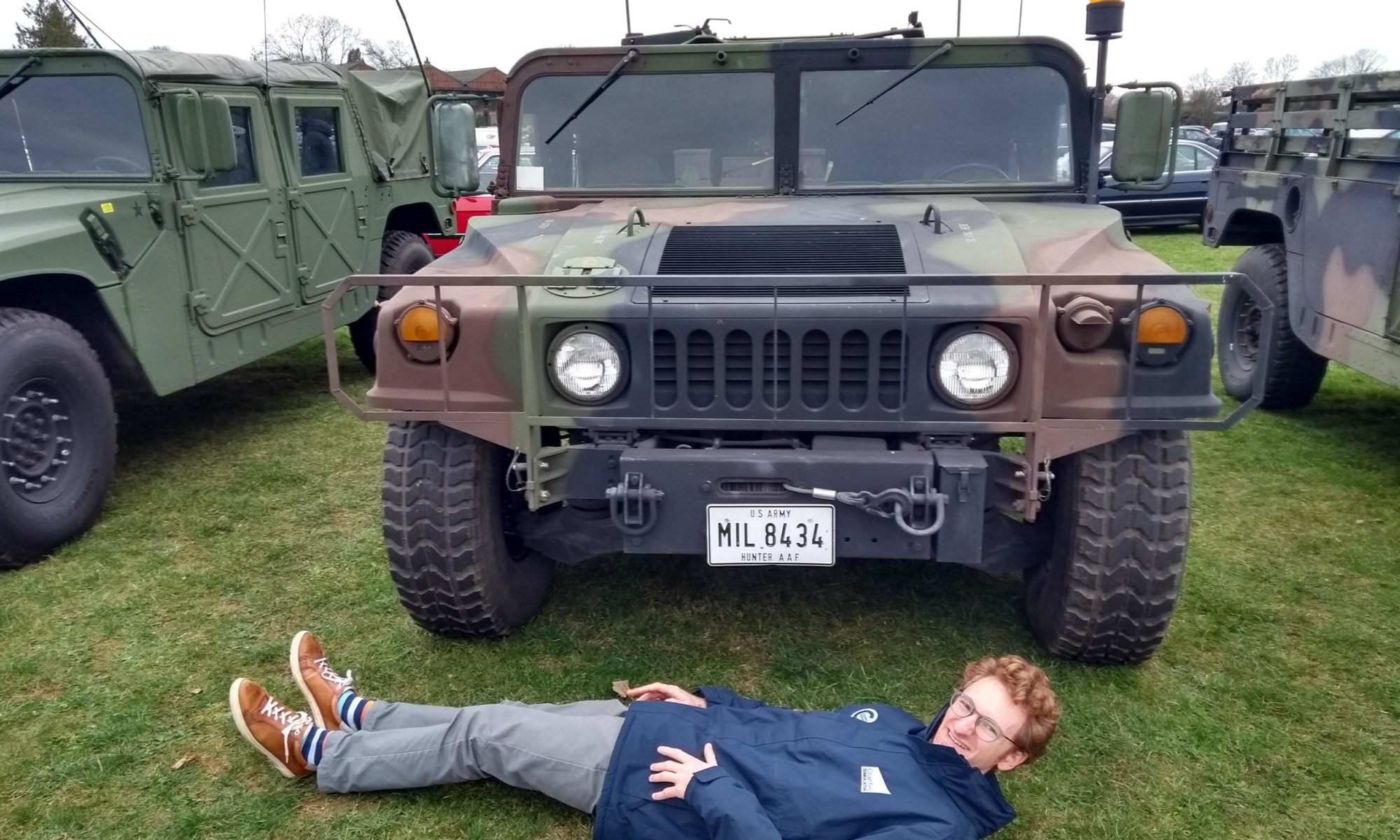 The Author (Humvee for scale)