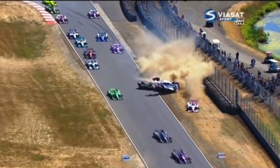 IndyCar Crash at Portland