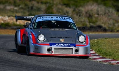 A modern-day Porsche in Martini colours joined in the fun