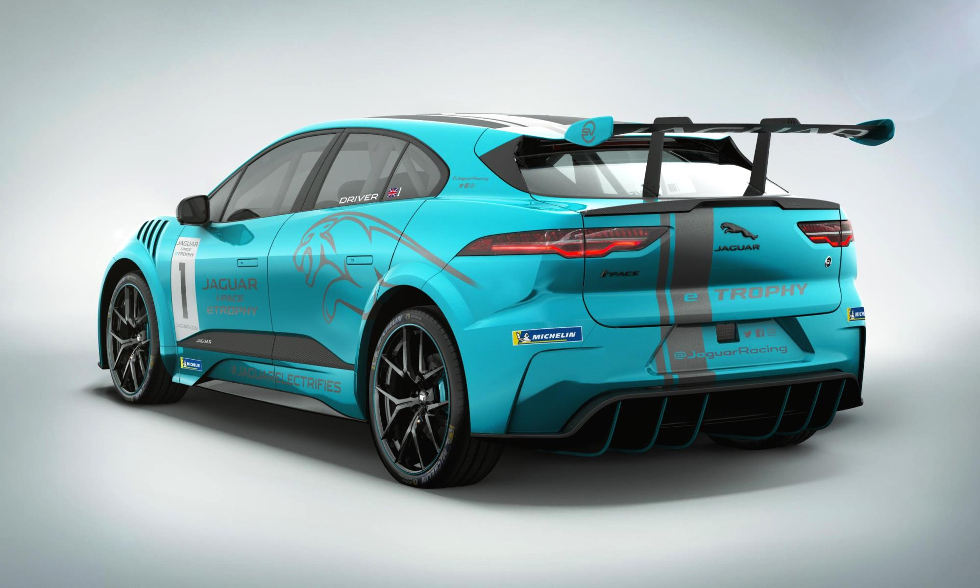 Jaguar I-Pace eTrophy rear