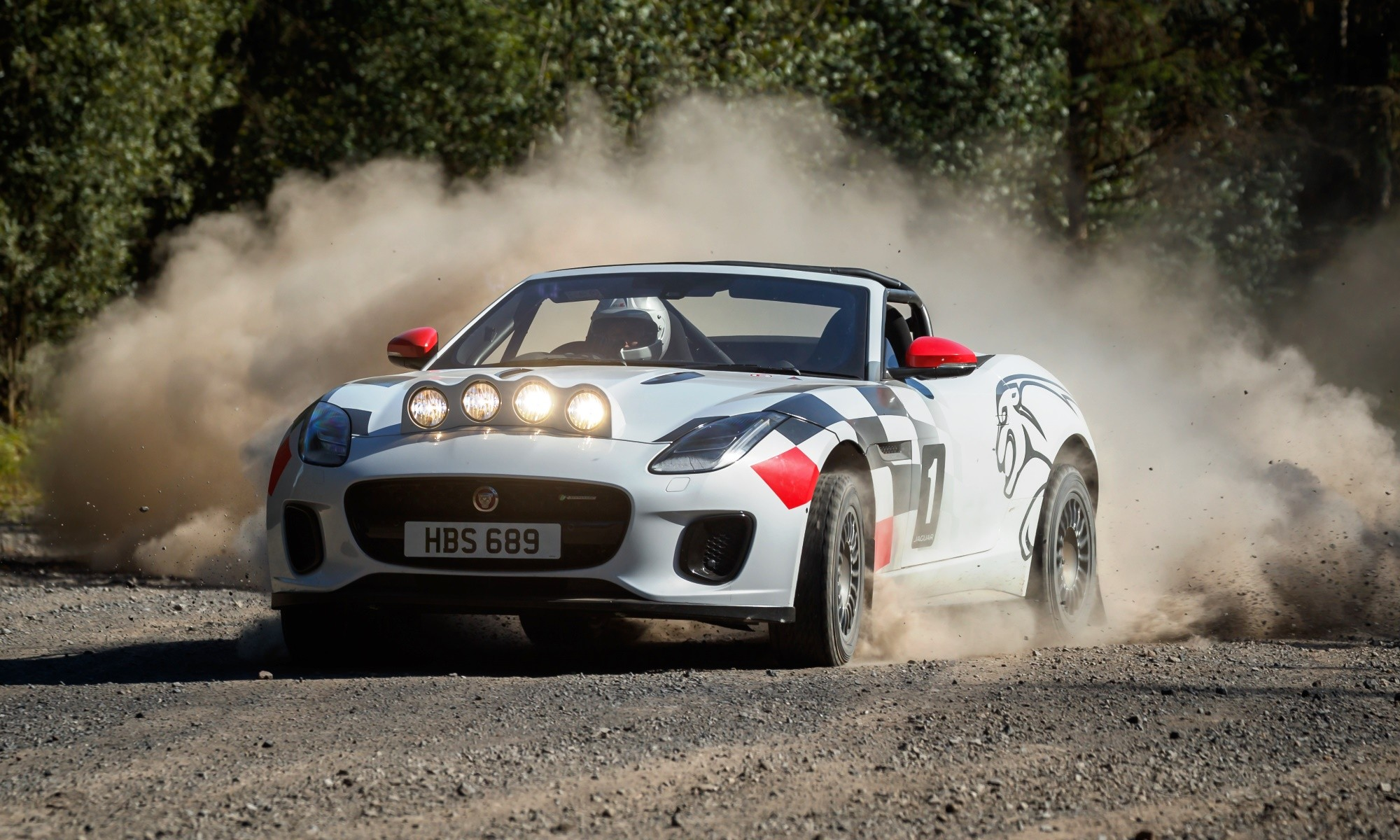 Jaguar Rally Car on dirt